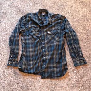 Carhartt Long Sleeve Snap Button Down Shirt
